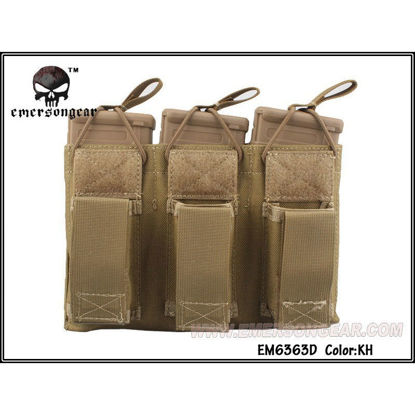 Emerson Gear 5.56 and Pistol Triple mag pouch - Coyote