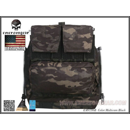 Emerson Gear AVS / JPC Zip on Back pack - Multicam Black