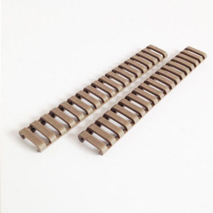 2x Ladder Rail Covers for 20mm RIS - Tan