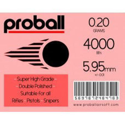 20 Bags of 4000 - 0.20g - White Proball - High Grade Ammo