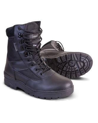 Patrol Boot - Half LeatherHalf Nylon - Black