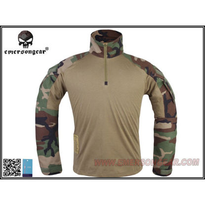 Emerson Gear G3 combat shirt - Woodland - (Small)