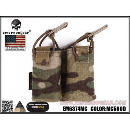 Emerson Gear Double Pistol Pouch For Frame Carrier - Multicam