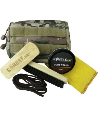 Deluxe Molle Boot Care Kit (Black Polish & Laces)