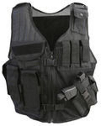 Cross Draw Tactical Vest - Black