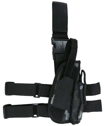 Tactical Leg Holster - BTP Black british terrain pattern