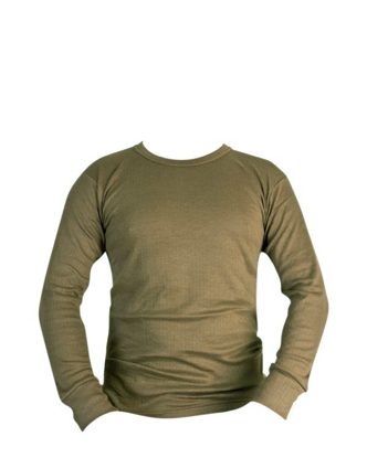 Thermal Long Sleeved Top - Olive Green