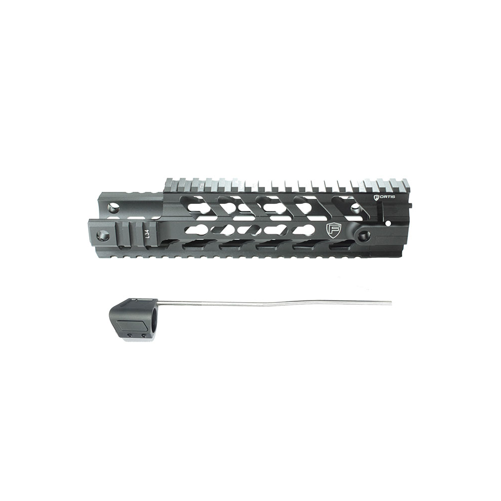 """PTS SYNDICATE AIRSOFT - Fortis Float Rail System 9"""" Inch CAR Cutout Black"""