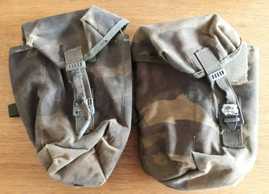 British army surplus DPM utility/canteen IRR webbing pouches X 2