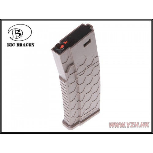Big Dragon Hexmag - 120 Round M4 (Mid cap) - Tan